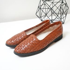 Cole Haan Woven Leather Loafers Boho